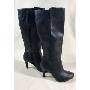 NWOT Express Faux Leather Boots with Heel Sz 8